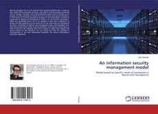 Bookcover of An information security management model