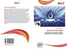 Copertina di Caroline Kraabel