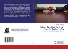 Buchcover von Private Operator Model on Financial Sustainability