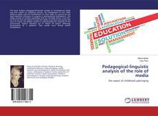Copertina di Pedagogical-linguistic analysis of the role of media