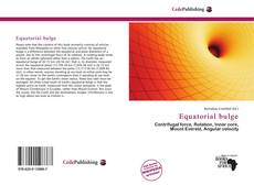 Bookcover of Equatorial bulge