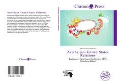 Capa do livro de Azerbaijan–United States Relations