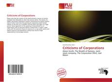 Bookcover of Criticisms of Corporations
