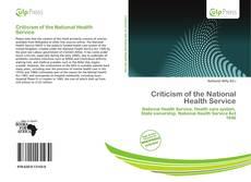 Criticism of the National Health Service kitap kapağı