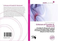 Bookcover of Criticism of Franklin D. Roosevelt