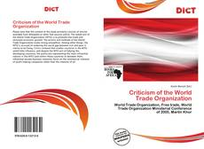 Bookcover of Criticism of the World Trade Organization
