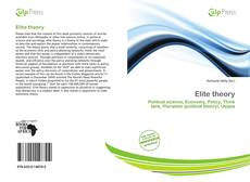 Bookcover of Elite theory