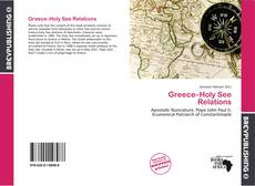 Bookcover of Greece–Holy See Relations