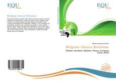 Capa do livro de Belgium–Greece Relations