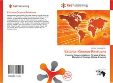 Bookcover of Estonia–Greece Relations