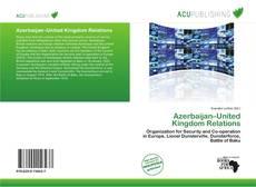Capa do livro de Azerbaijan–United Kingdom Relations