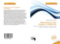 Capa do livro de Mechanical and organic solidarity