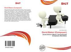 Portada del libro de David Baker (Composer)