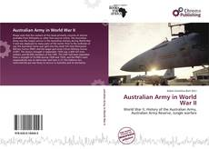 Bookcover of Australian Army in World War II