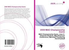 Bookcover of 2000 MAC Championship Game