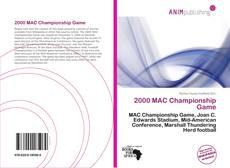 Couverture de 2000 MAC Championship Game