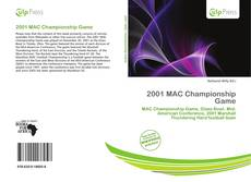 Bookcover of 2001 MAC Championship Game
