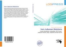 Borítókép a  Iran–Lebanon Relations - hoz