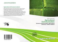 Couverture de Agricultural Communication