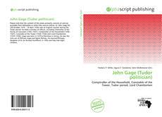 Copertina di John Gage (Tudor politician)