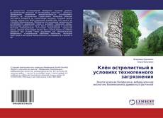 Buchcover von Клён остролистный в условиях техногенного загрязнения