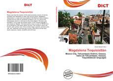 Portada del libro de Magdalena Tequisistlán