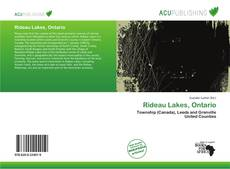 Bookcover of Rideau Lakes, Ontario