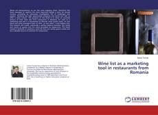 Portada del libro de Wine list as a marketing tool in restaurants from Romania