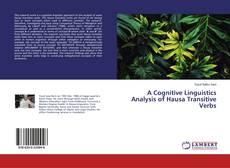 Bookcover of A Cognitive Linguistics Analysis of Hausa Transitive Verbs