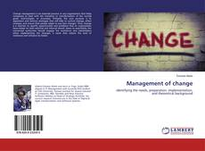 Couverture de Management of change
