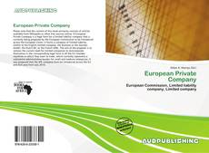 Bookcover of European Private Company