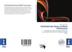 Couverture de Confederate Army of West Tennessee