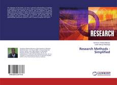 Bookcover of Research Methods - Simplified