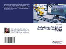 Couverture de Application of Discriminant Analysis model in veterinary research