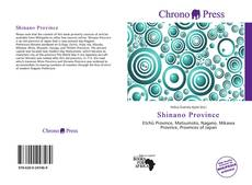 Bookcover of Shinano Province