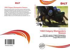 Bookcover of 1962 Calgary Stampeders Season
