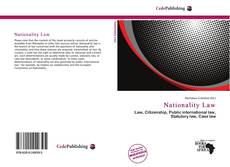 Bookcover of Nationality Law