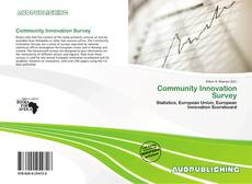 Couverture de Community Innovation Survey