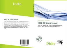 Обложка 1978 BC Lions Season