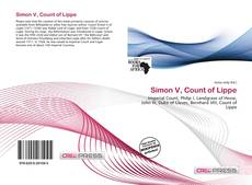Bookcover of Simon V, Count of Lippe