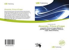 Couverture de Alexander, Prince of Lippe