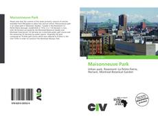 Bookcover of Maisonneuve Park