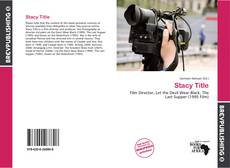 Bookcover of Stacy Title