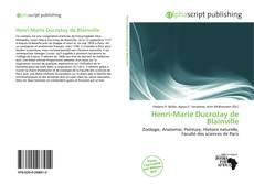 Bookcover of Henri-Marie Ducrotay de Blainville