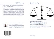 Capa do livro de Einkommens- und Vermögensungleichheit in Zürich, 1893 bis 1929