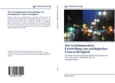 Bookcover of Zur textimmanenten Feststellung von axiologischer Unzuverlässigkeit