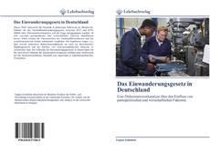 Capa do livro de Das Einwanderungsgesetz in Deutschland