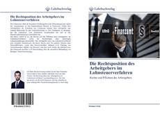 Capa do livro de Die Rechtsposition des Arbeitgebers im Lohnsteuerverfahren