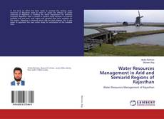 Buchcover von Water Resources Management in Arid and Semiarid Regions of Rajasthan