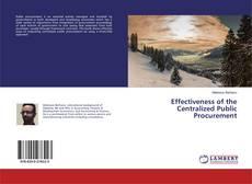 Effectiveness of the Centralized Public Procurement kitap kapağı